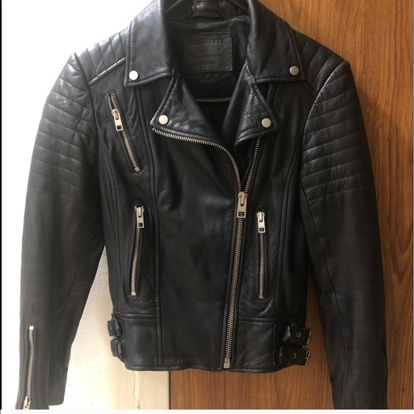 All Saints Jackets & Blazers - All Saints Leather Jacket size 0